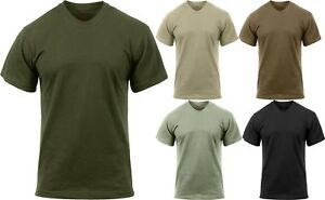 Quick Dry Tactical T-Shirt Solid Moisture Wicking Military Army Crew ... 19566413870