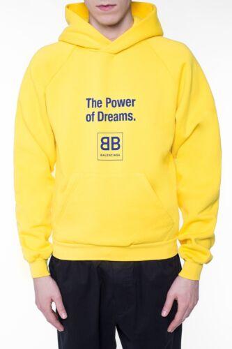 Balenciaga Logo-print Yellow Men Sweatshirt Hoodie