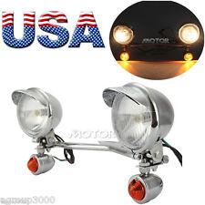 Headlight Passing Spotlight Assembly Spot Fog Light Bar Turn Signals Bracket Kit