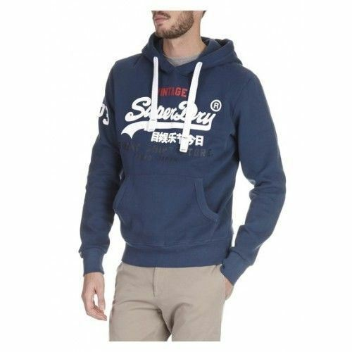 Superdry Mens Sweat Shirt Store Tri Hood Jumper bluee (M20002FN 92N)