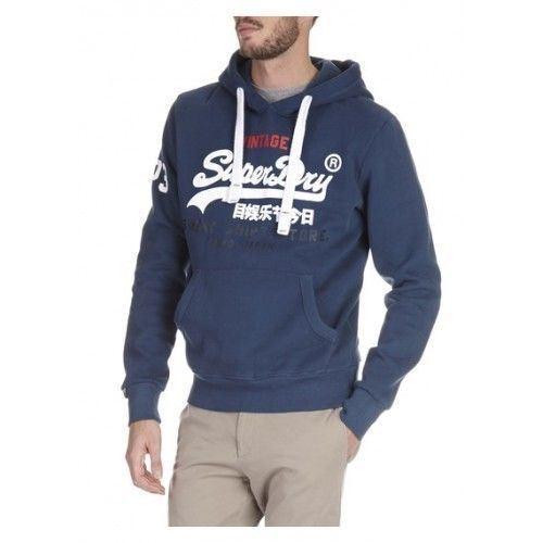 Camicia da uomo Superdry Sudore negozio Tri Cappuccio Maglione Blu M20002FN 92N