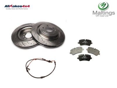 range rover sport drilled and grooved front brake discs and pads 2013 set L494