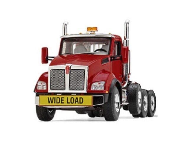 First Gear 50-3392 Kenworth T880 Tri-axle Tractor - Red - 1/50 MIB