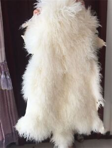 Details About White Fur Rugs Mongolian Throw Tibetan Lambskin Chair Pelt Curly Fluf Carpet