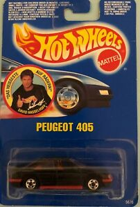 Hot-Wheels-David-Hasselhoff-Peugeot-405-International-Blistercard-Germany