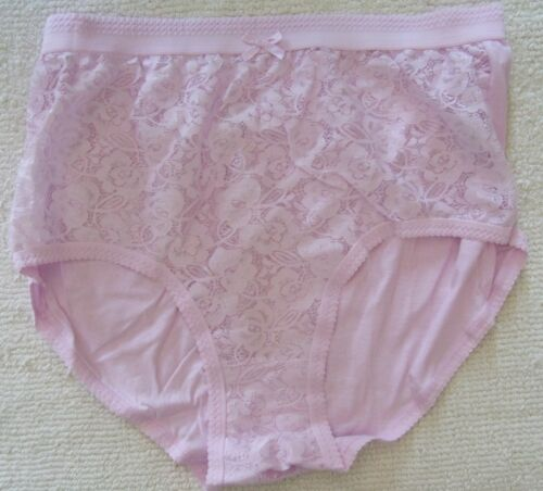 Mesdames taille 24-26 50-52 in hanches Full Brief Lacy Knickers Culotte Rose