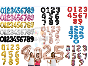 40-034-Giant-Foil-Numero-air-helium-baloons-Large-Ballons-Fete-D-039-Anniversaire-Bash-FOIL