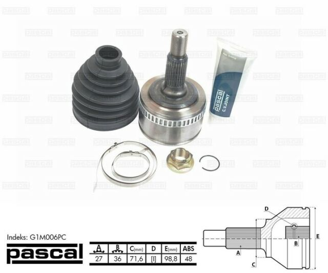 PASCAL G1M006PC Joint Kit, drive shaft OE REPLACEMENT XX5 2372AA