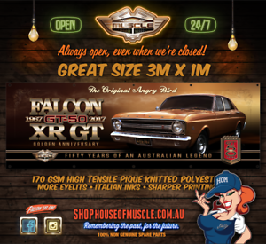 FORD-FALCON-XR-50TH-ANNIVERSARY-034-THE-ORIGINAL-ANGRY-BIRD-034-BANNER-HUGE-3m-x-1m