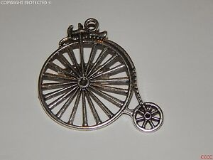 steampunk-goth-brooch-badge-pin-silver-penny-farthing-bicycle-The-Prisoner