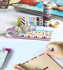 10-Rolls-Lovely-Cartoon-Deco-DIY-Tape-Scrapbooking-Adhesive-Paper-Sticker-Craft