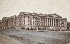 Treasury-Building-Washington-DC-Vintage-Postcard