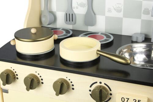 Spielküche Holzküche für Kinder Gold Vintage