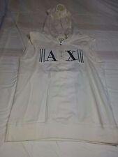 Vintage Armani Exchange Sleeveless Pullover Hoodie Sweatshirt Women's Size Small