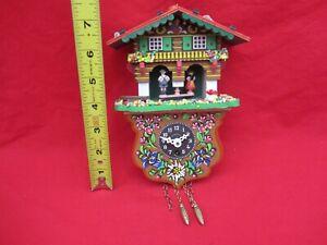 Vintage allemande Forêt Noire toggili Cuckoo Clock Station Météo Swiss House