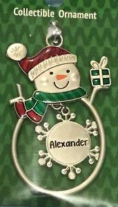Ganz Snowman Sleigh Sled Ornament Personalized /'NICOLE/'  Stocking Stuffer NWT
