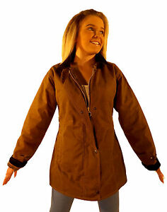Campbell-Cooper-New-Ladies-Fitted-Wax-Cotton-Jacket-Tan-Brown-8-10-12-14-16