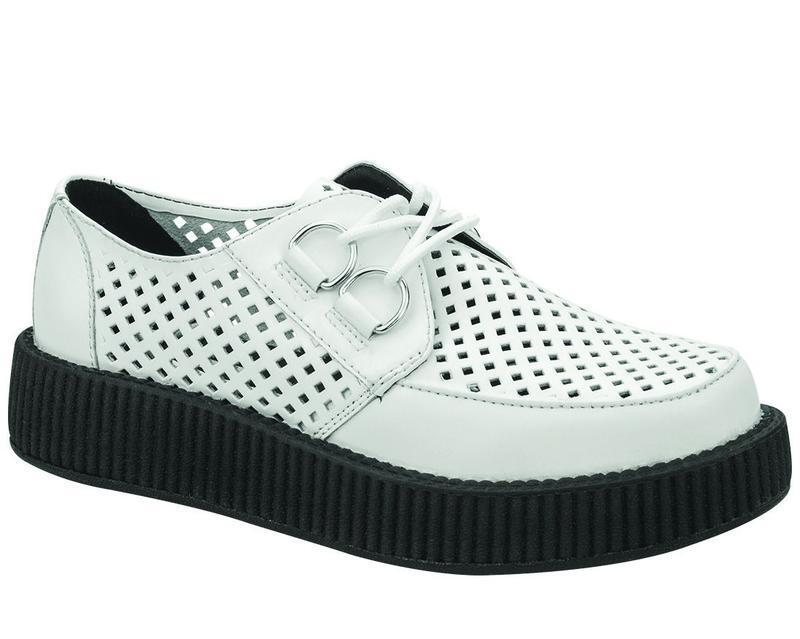 T.U.K V8882 VIVA LOW CREEPER in bianco