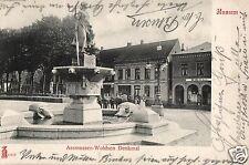 14213/ Foto AK, Husum, Assmussen-Woldsen Denkmal, 1905