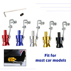 Car Turbo Sound Whistle Muffler Exhaust Pipe Auto Blow off Valve Simulator S-XL