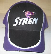 Brand New Stren Fishing Line Baseball Cap Hat Black/Purple-Adjustable