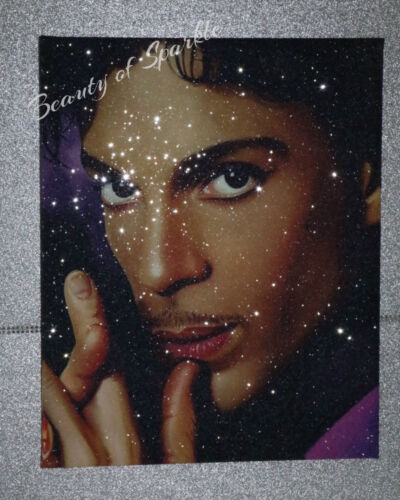 Glitter DIAMOND DUST! Large PRINCE canvas  Picture,Original or WITH