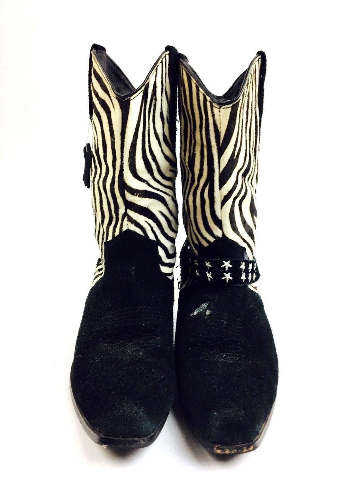 Zebra Cowboy Boots Women's Shoes Women's Boots He… - image 4