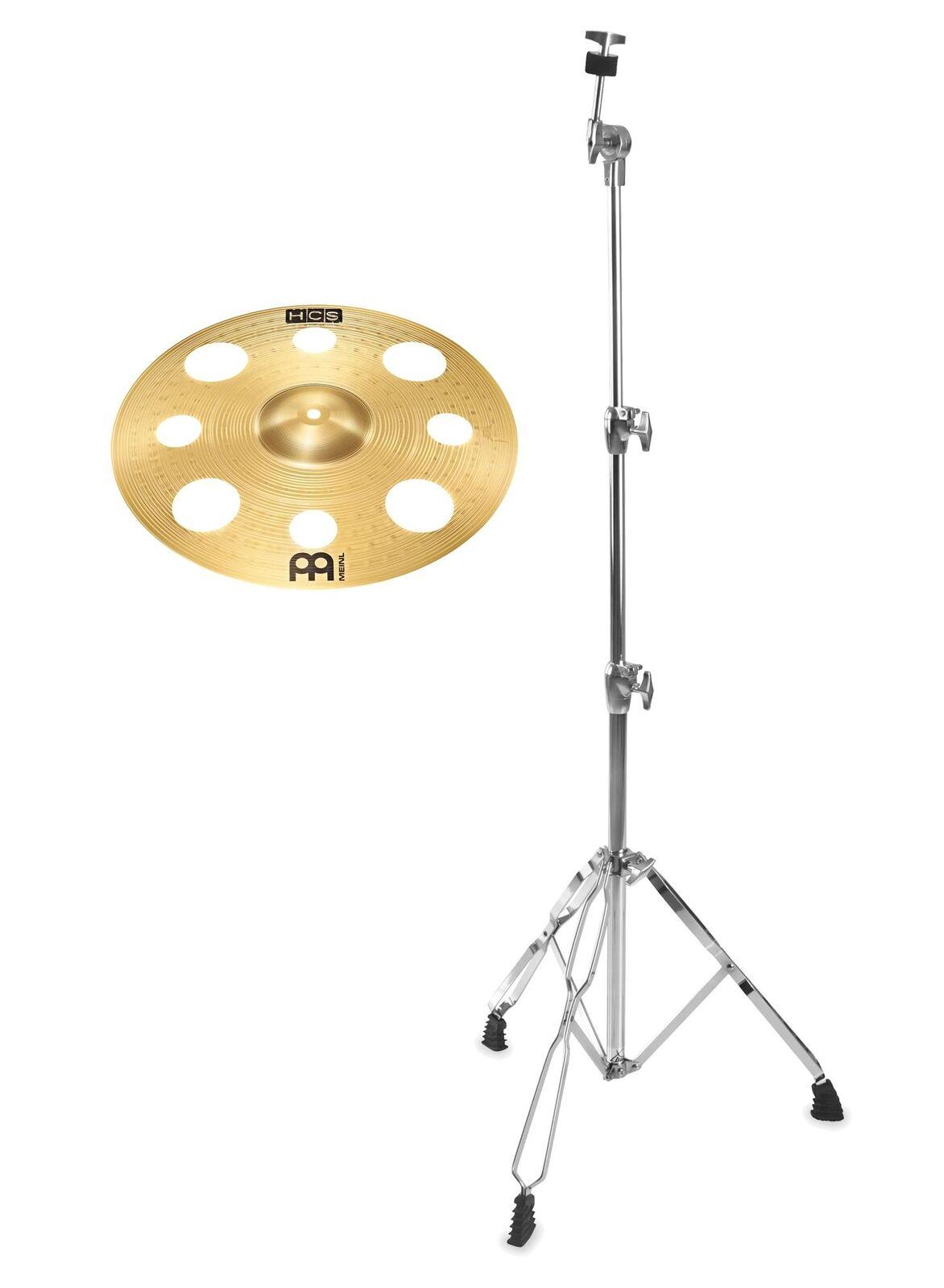 Meinl HCS 16  Trash Crash gerade Becken Ständer Set Cymbal Einsteiger Drum Stand