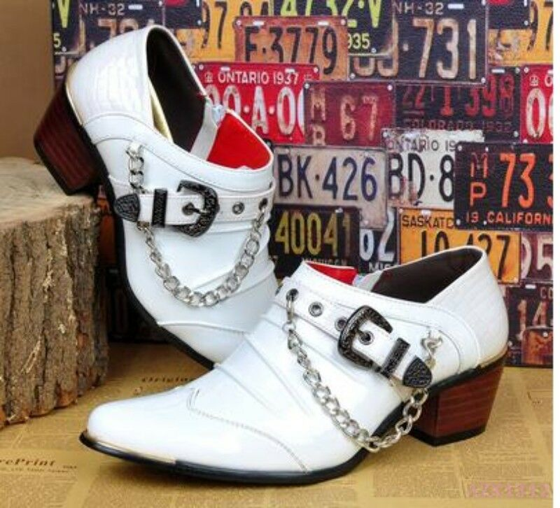 2018 Hot uomo Shoe Floral Formal Wedding Business Wedding Formal Chain Decor Pointy Toe Clubwear Scarpe classiche da uomo fefd22