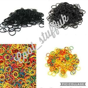 300-Mini-Elastic-Rubber-Hair-Bands-Bobbles-Cornrow-Braiding-Clear-Ponytail-Pouch