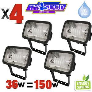 4 x timeguard 36 watt energy saver floodlight security light low image is loading 4 x timeguard 36 watt energy saver floodlight aloadofball Choice Image