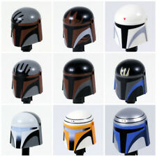 Custom MANDALORIAN HELMET for Minifigures -Pick Color!- Star Wars Clones