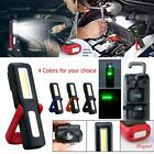 USB Rechargeable COB LED Work Light Lamp Magnetic Flashlight Torch Bright W/Hook