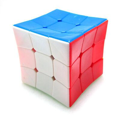 Rare Concave Surface Stickerless 3x3 3x3x3 Odd Shape Magic Cube Twsit Puzzle