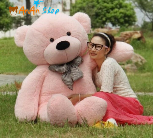 GIANT 63'' BIG PLUSH Pink TEDDY BEAR HUGE STUFFED ANIMAL SOFT TOY BIRTHDAY GIFTS