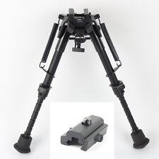 "6""- 9"" Harris Style Bipod Adjustable Universal Picatinny Rail Mount Foldable"