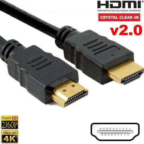 PREMIUM ULTRAHD HDMI CABLE V2.0 HIGH SPEED 4K HD 2160P 3D LEAD 1m//2m//3m//5m//10m