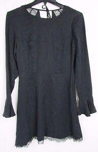 Dolce-Vita-Black-Long-Sleeve-Mini-Dress-Women-039-s-Size-Small