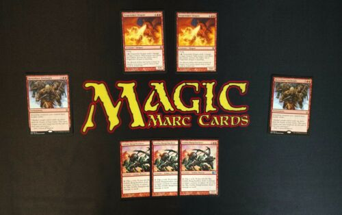 MTG Modern Mono Red Goblin Bangchuckers Burn /& Dash Deck Box Sleeves Magic