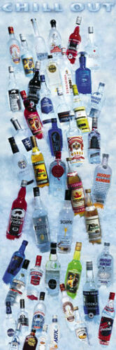 DRINKING POSTER Chill Out Vodkas 12x36
