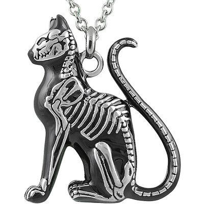 Controse Jewelry Feral Bones Necklace Skeleton Cat Bones Goth Nugoth