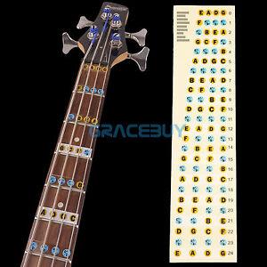 4 string guitar bass fret notes lable stickers neck fretboard maker note decals ebay. Black Bedroom Furniture Sets. Home Design Ideas