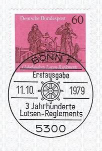 Rfa 1979: Pilotes-regelements Nr 1022 Avec Propre Bonner Cachet Spécial! 1a! 156-ents Nr 1022 Mit Sauberem Bonner Sonderstempel! 1a! 156fr-fr Afficher Le Titre D'origine