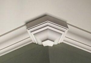 Crown Molding Corner Endcap Block Fits 4 1//2-4 5//8 Inch Crown Molding