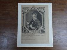 INNOCENT INNOCENZO XI Pape Pope Papa (1611-1689)  GRAVURE XVIIIe