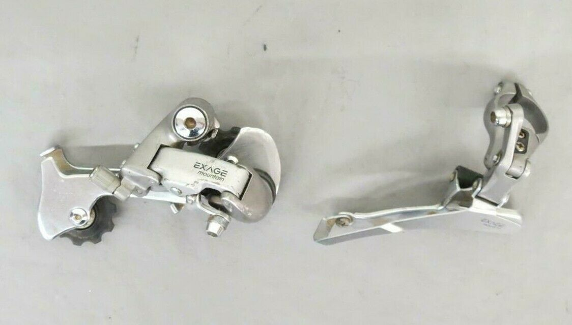 Vintage Shimano Exage Mountain RD-M450 Rear & FD-M450 Front Derailleur Set GREAT