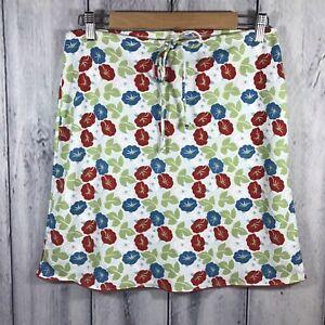 Esprit-Womens-Skirt-Size-Small-Lightweight-Blue-Burgundy-Flowers-Stretchy