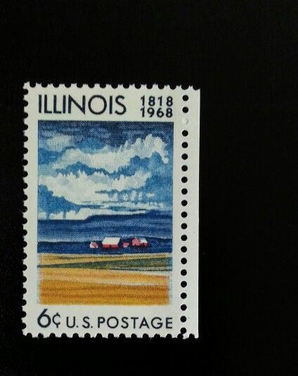 1968 6c Illinois Statehood, 150th Anniversary 1339 Mint