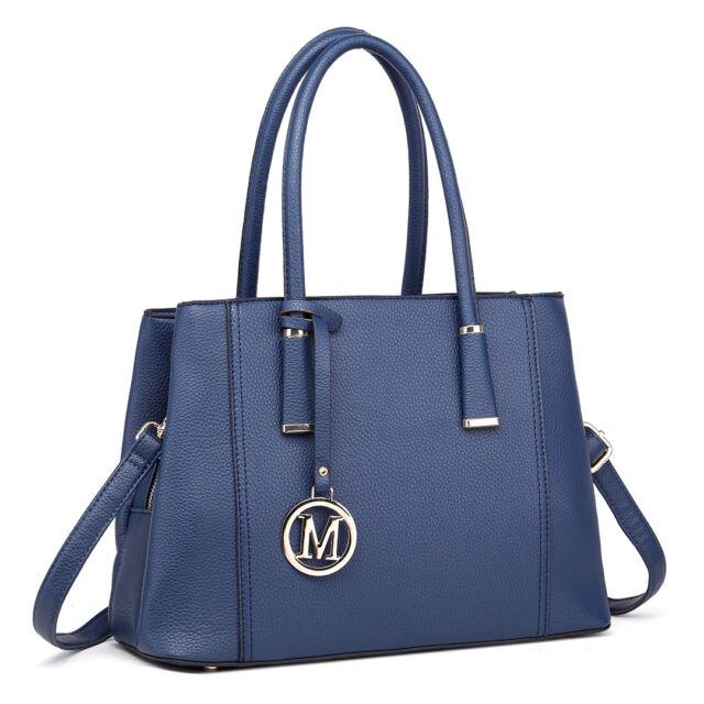 a28a3728c8 Ladies DESIGNER PU Leather Handbag Shoulder Tote Bag Satchel Elegant ...