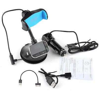Bluetooth Handsfree FM Transmitter Car Kit Charger MP3 Player phone Mount Holder